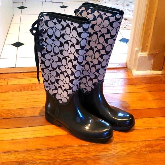 EUC Coach logo Spring WC Rain boots